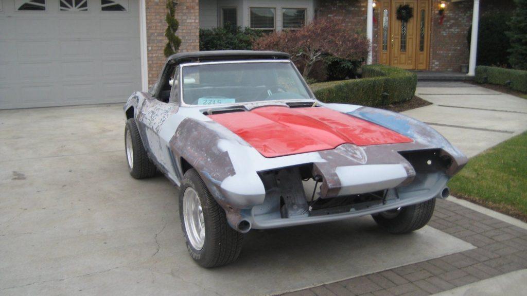 1966 Chevrolet Corvette Convertible Original Big Block 427 Project car