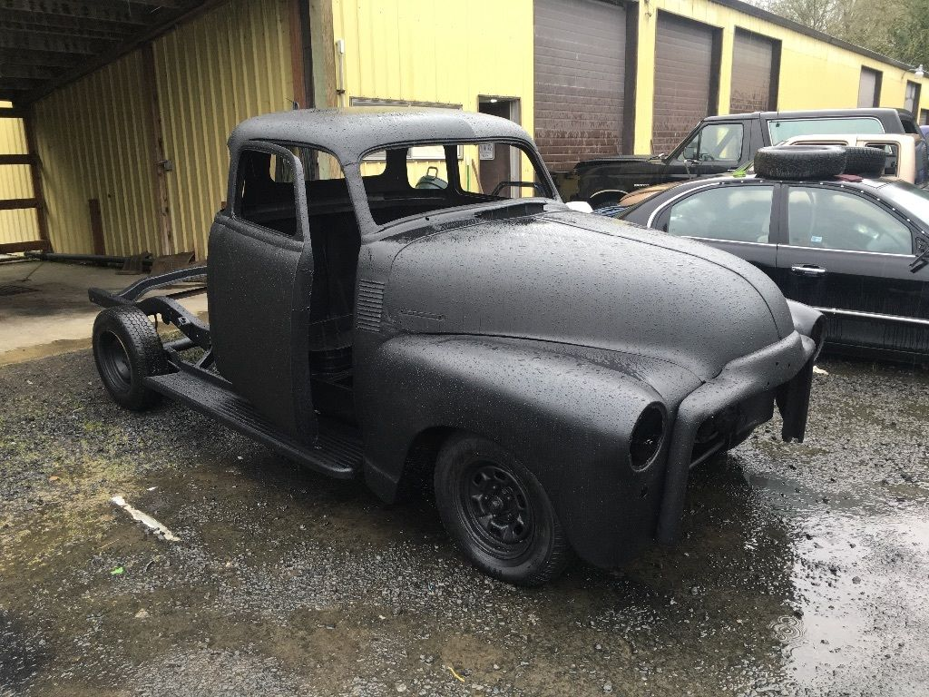 chopped 1950 gmc 3100 pickup truck ratrod project for sale. Black Bedroom Furniture Sets. Home Design Ideas