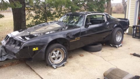 Project ready to be built: 1981 Pontiac Trans Am T-Tops car for sale