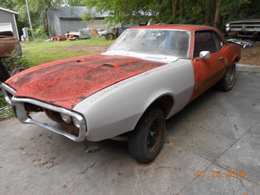 Matching numbers 1968 Pontiac Firebird project car