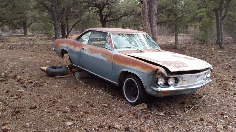 No engine 1968 Chevrolet Corvair Monza project for sale
