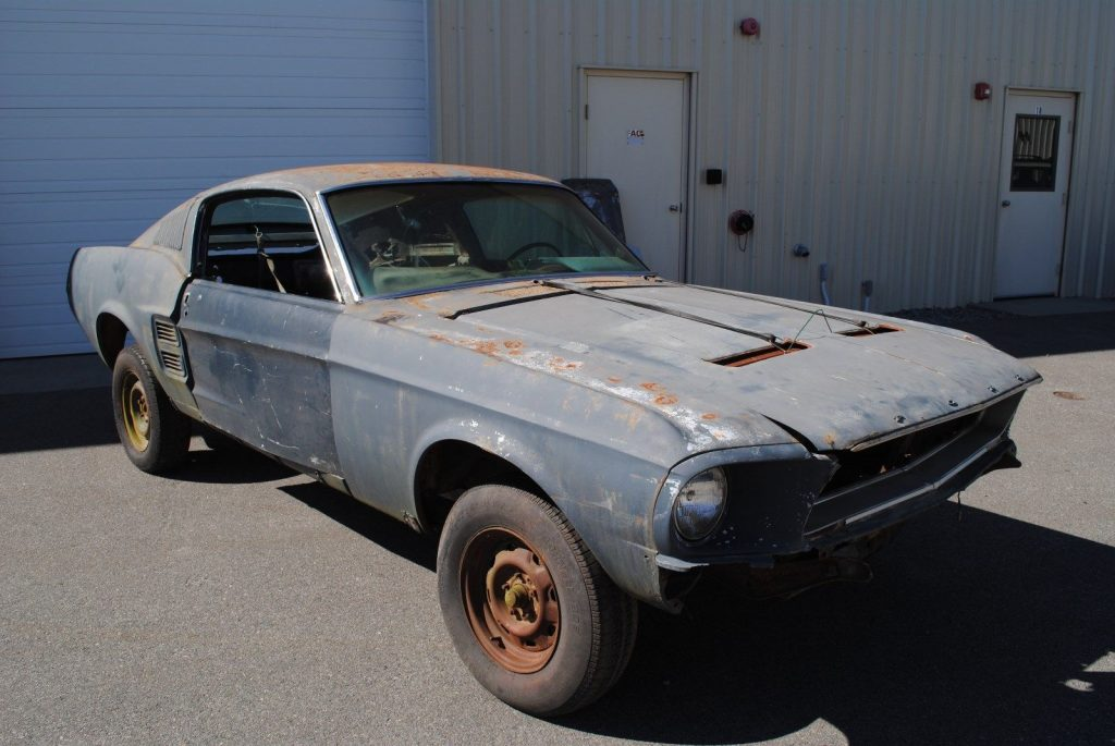 Project 1967 Ford Mustang missing engine and trans