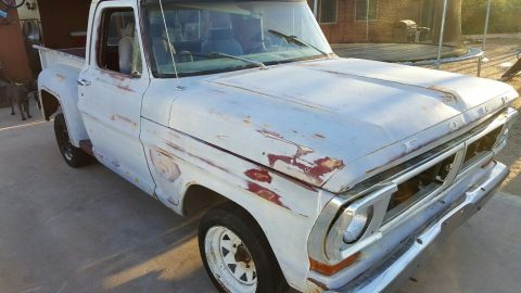 Rust free 1972 Ford F 100 project for sale