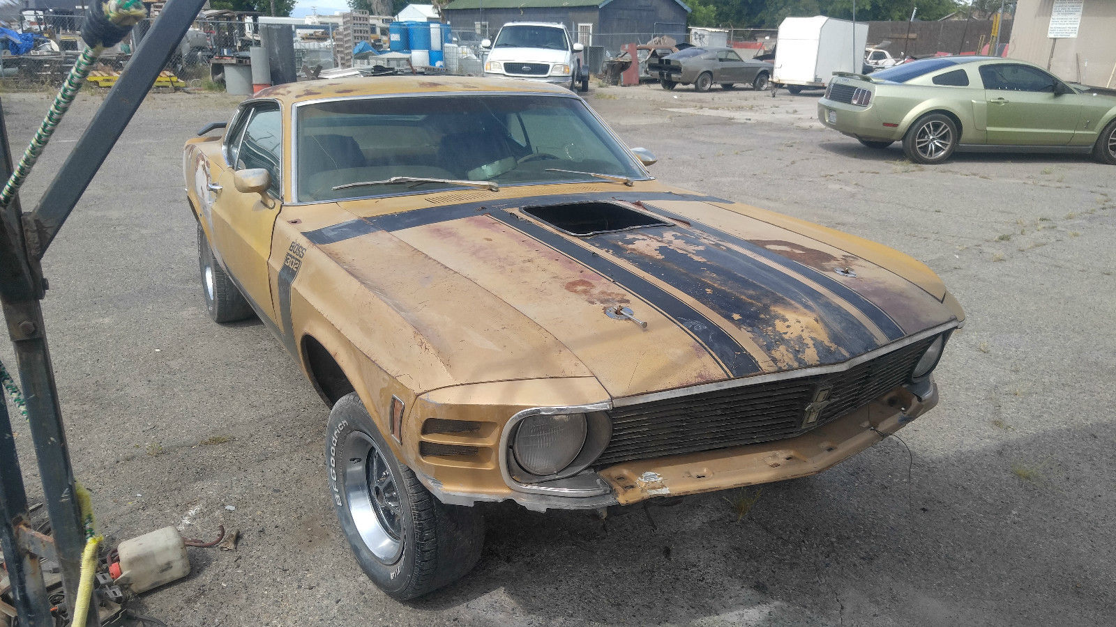 factory 4 speed 1970 ford mustang boss 302 project for sale. Black Bedroom Furniture Sets. Home Design Ideas