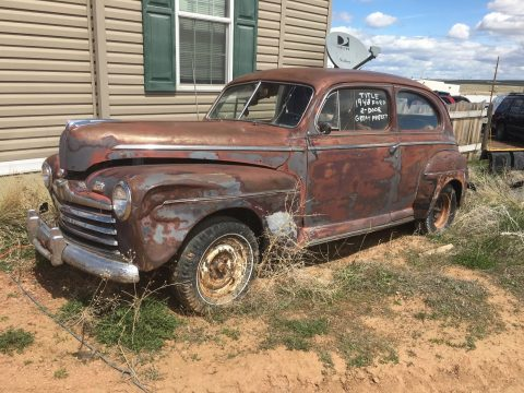 Flathead engine 1948 Ford 2 door Sedan project for sale