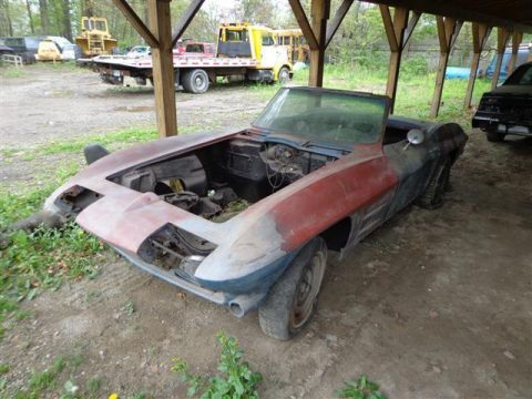 Missing parts 1963 Chevrolet Corvette project for sale