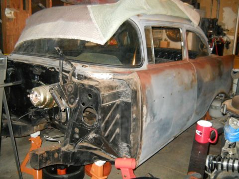 Needs front clip 1957 Chevrolet Bel Air/150/210 project for sale