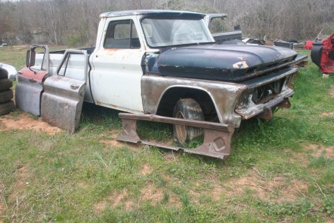 No drivetrain 1966 Chevrolet C 10 Fleet Side project truck for sale