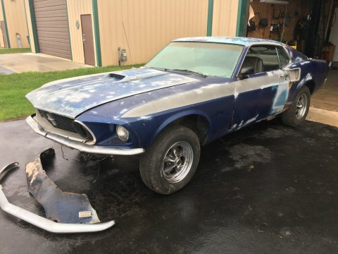 Optioned 1969 Ford Mustang Mach 1 project car for sale