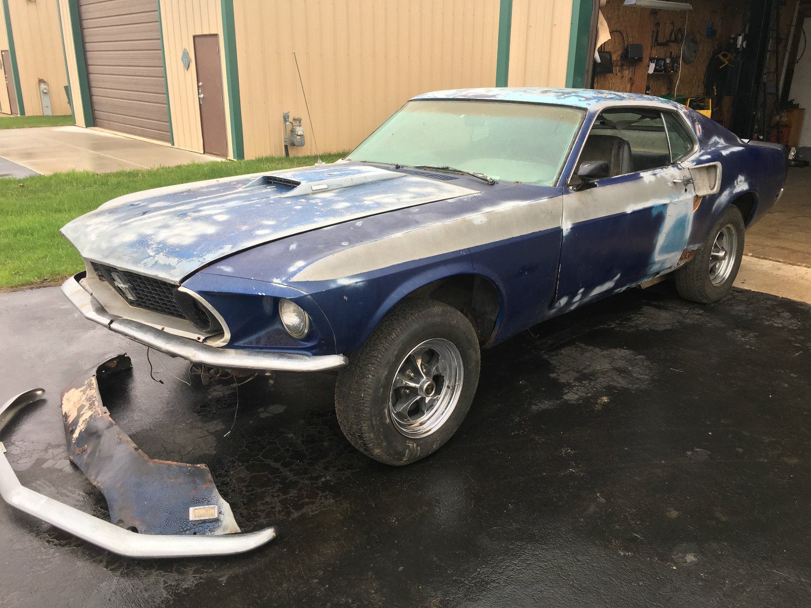optioned 1969 ford mustang mach 1 project car for sale. Black Bedroom Furniture Sets. Home Design Ideas