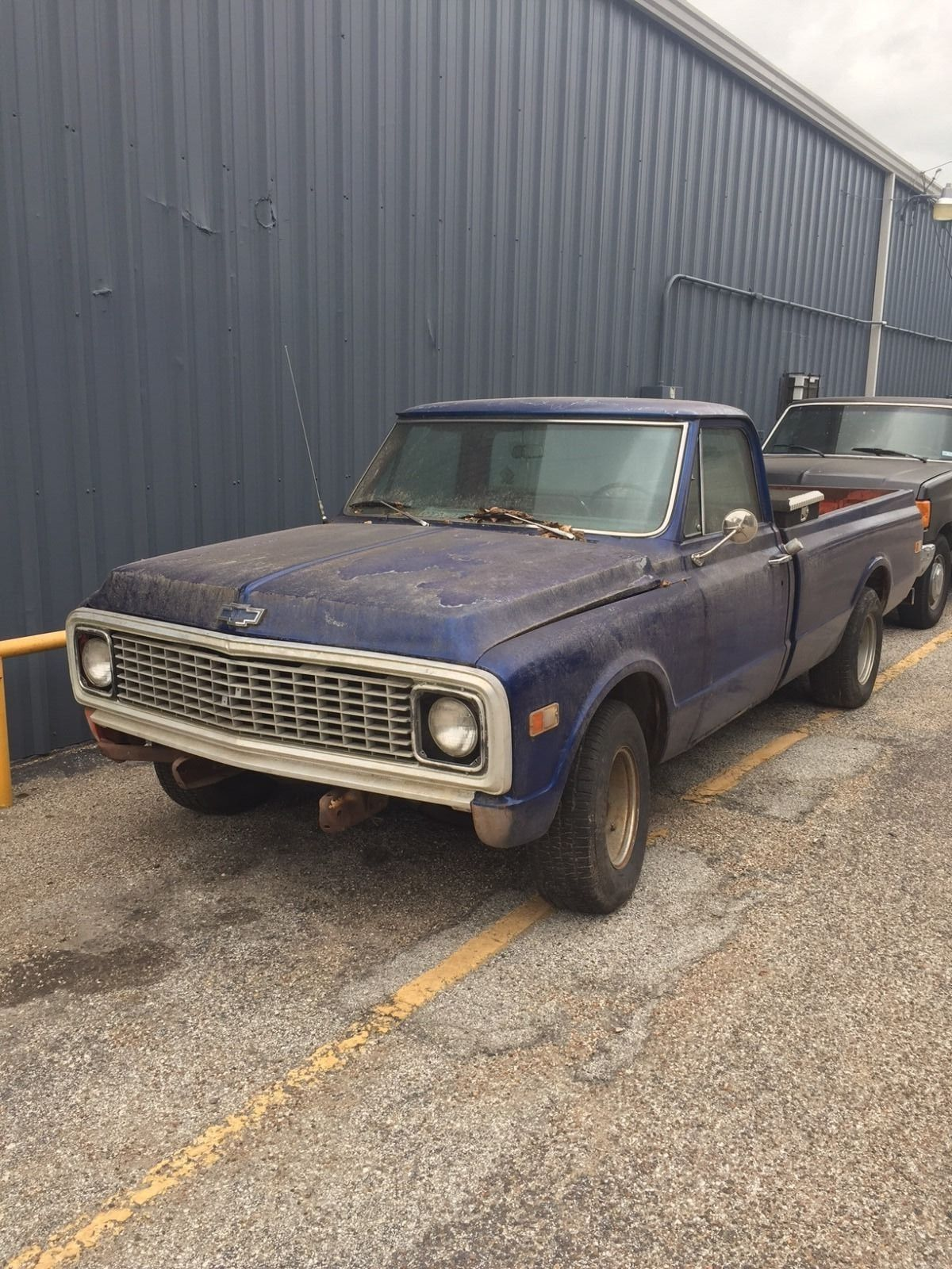 rusty 1970 chevrolet c 10 pickup project truck pickup for sale. Black Bedroom Furniture Sets. Home Design Ideas