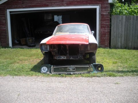 Solid base 1968 Ford Mustang project car for sale