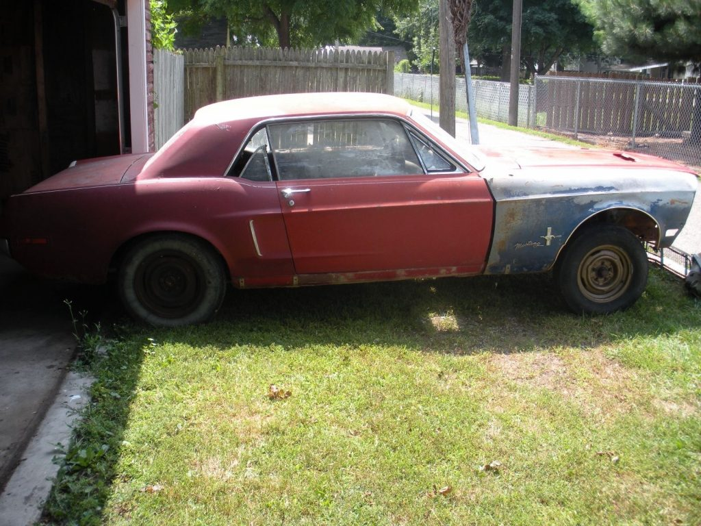 Solid base 1968 Ford Mustang project car