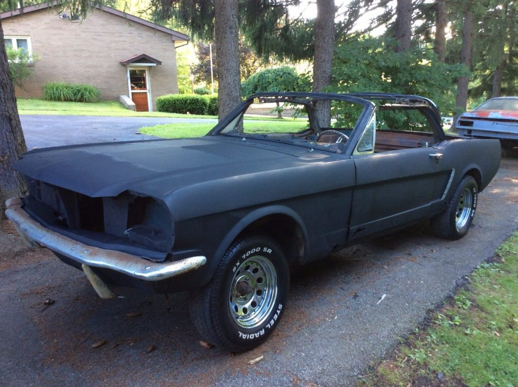 Common rust 1965 Ford Mustang convertible poject