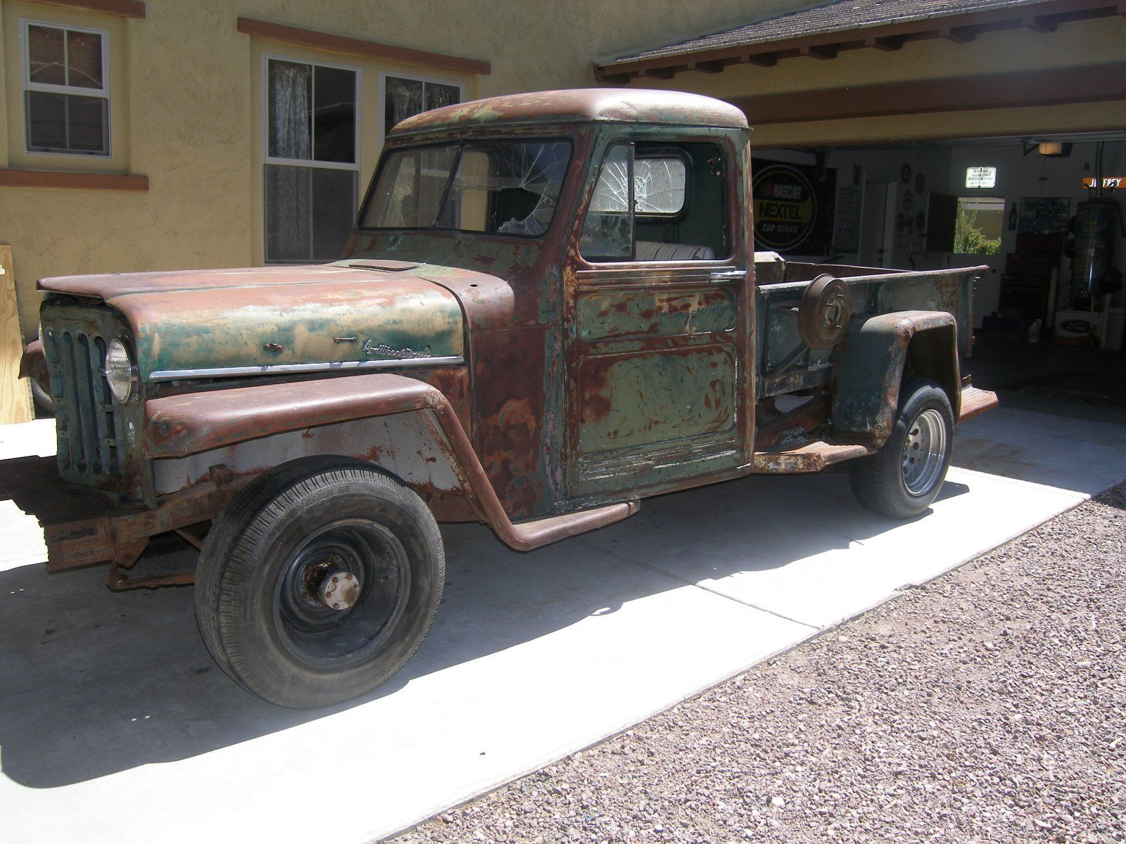 desert find 1951 willys pickup project for sale. Black Bedroom Furniture Sets. Home Design Ideas