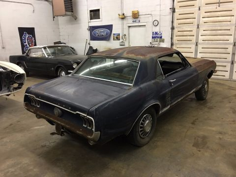 Factory 4 speed 1967 Ford Mustang GT project for sale