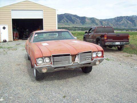Missing drivetrain 1972 Oldsmobile Cutlass S project for sale