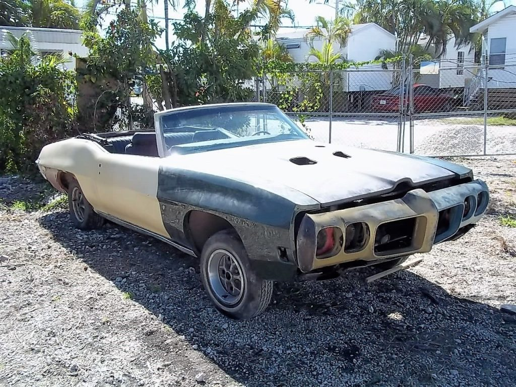 1967 Pontiac Firebird Convertible Project Car For Sale: Mostly Complete 1970 Pontiac GTO Convertible Project For Sale