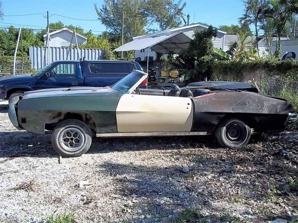 Mostly complete 1970 Pontiac GTO Convertible project