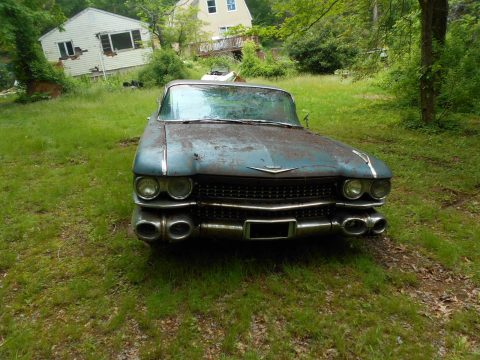 Needs total frame off 1959 Cadillac Deville Coupe project for sale