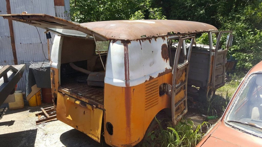 Rusted out roof 1963 Volkswagen Bus/Vanagon project
