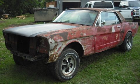 A code 1966 Ford Mustang project for sale
