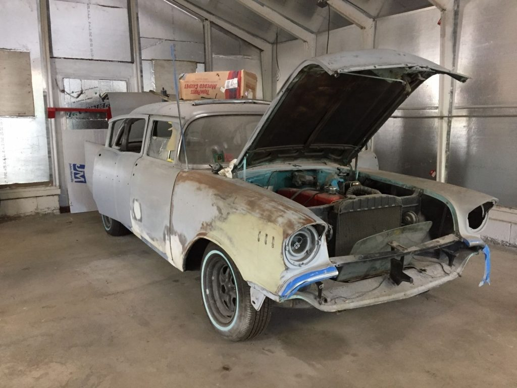 Almost 30 years parked 1957 Chevrolet Bel Air/150/210 base project