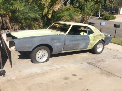 Big block 1967 Chevrolet Camaro project for sale