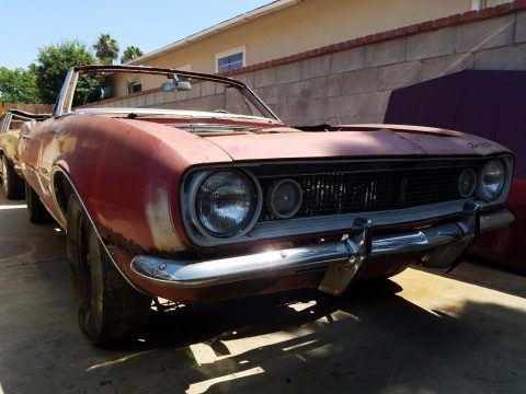 Complete 1967 Chevrolet Camaro Convertible project for sale