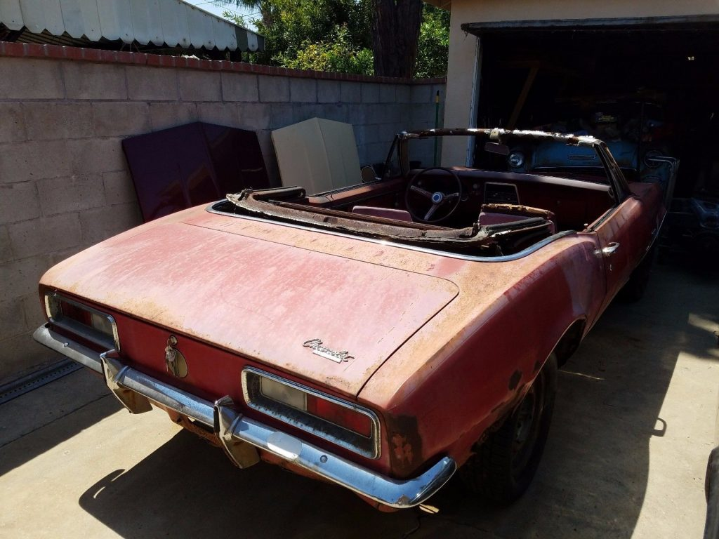 Complete 1967 Chevrolet Camaro Convertible project