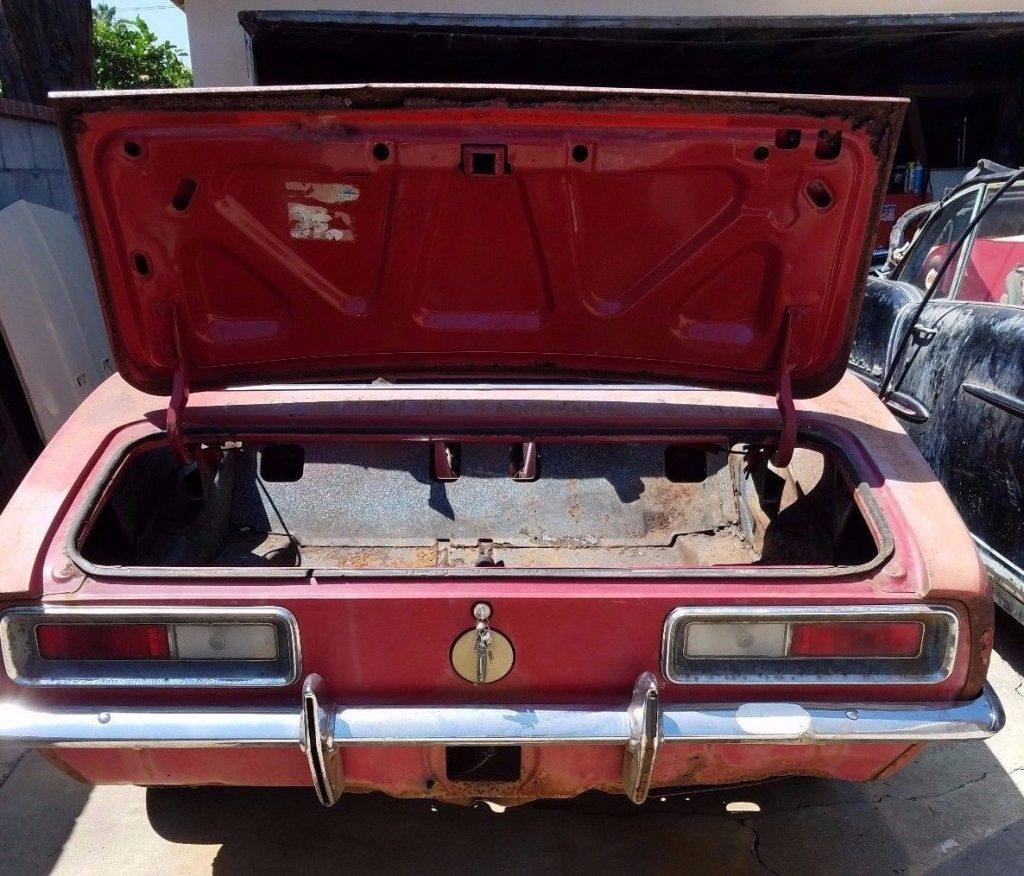 Complete 1967 Chevrolet Camaro Convertible project