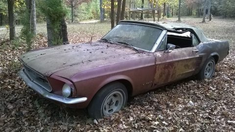 Complete 1967 Ford Mustang Convertible project for sale