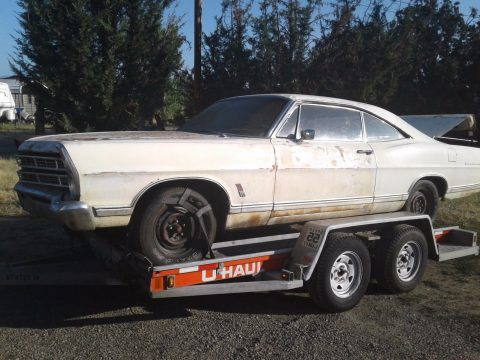 Engine runs 1967 Ford Galaxie project for sale