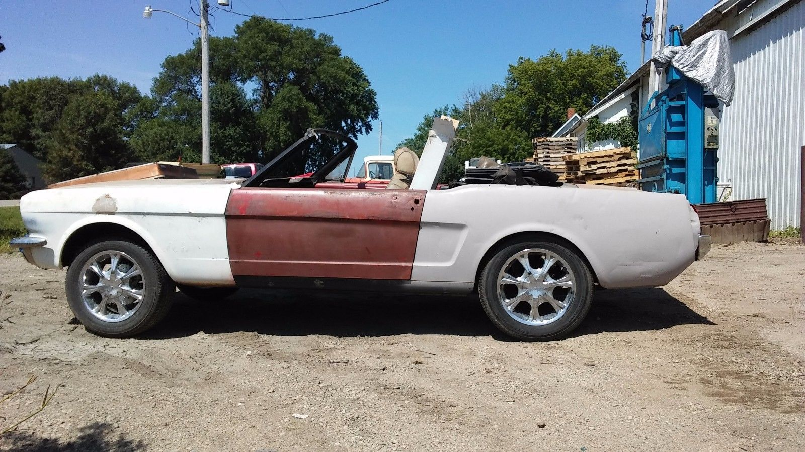 no drivetrain 1965 ford mustang convertible project for sale. Black Bedroom Furniture Sets. Home Design Ideas