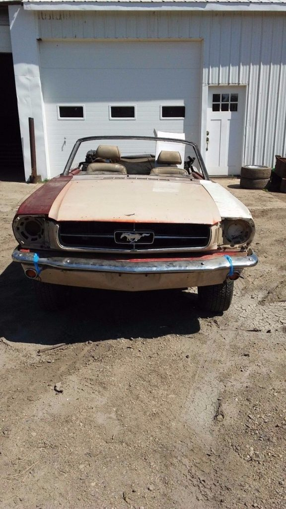 No drivetrain 1965 Ford Mustang CONVERTIBLE project