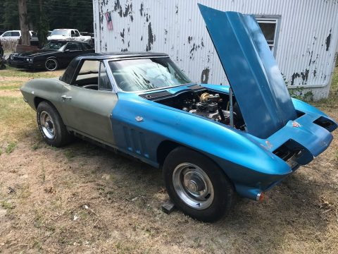 Redone frame 1965 Chevrolet Corvette Convertible C2 project for sale