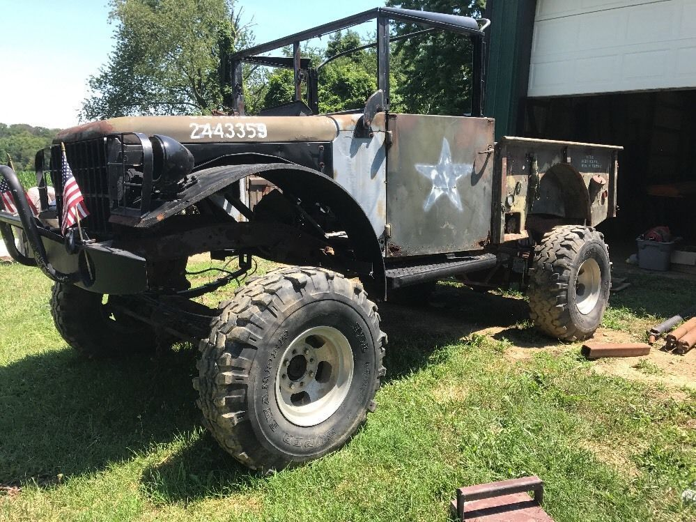 solid truck 1954 dodge power wagon project for sale. Black Bedroom Furniture Sets. Home Design Ideas