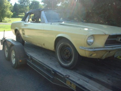 complete 1967 Ford Mustang project for sale
