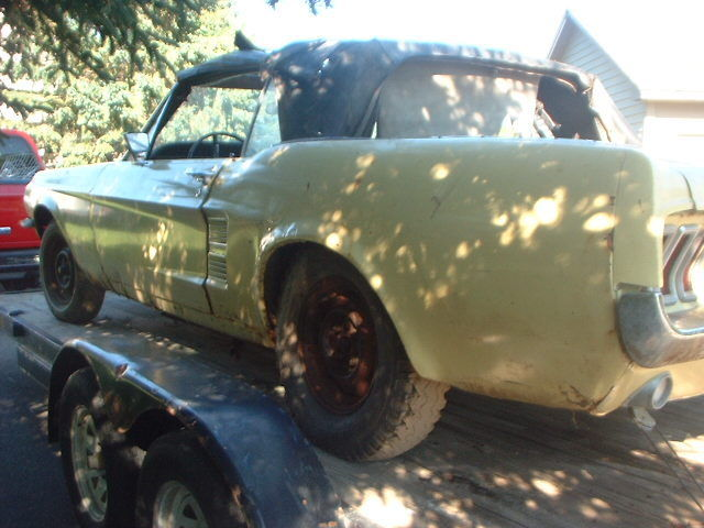 complete 1967 Ford Mustang project