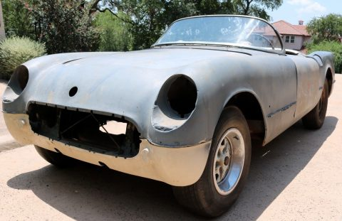 Complete body 1954 Chevrolet Corvette project for sale
