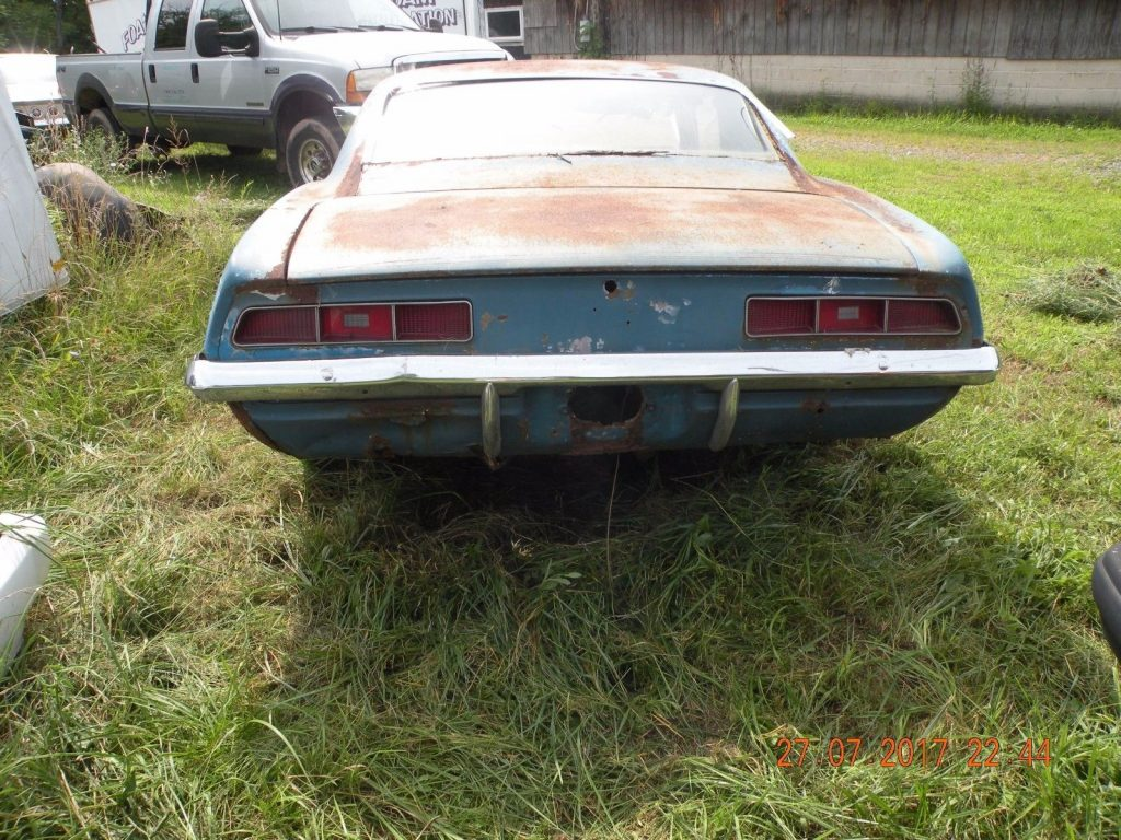 Half of car missing 1969 Chevrolet Camaro project
