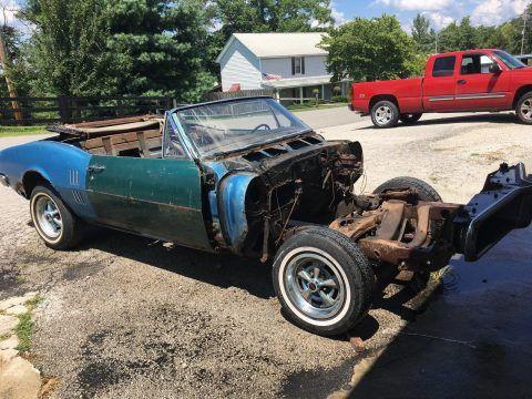 Incomplete 1967 Pontiac Firebird Project for sale