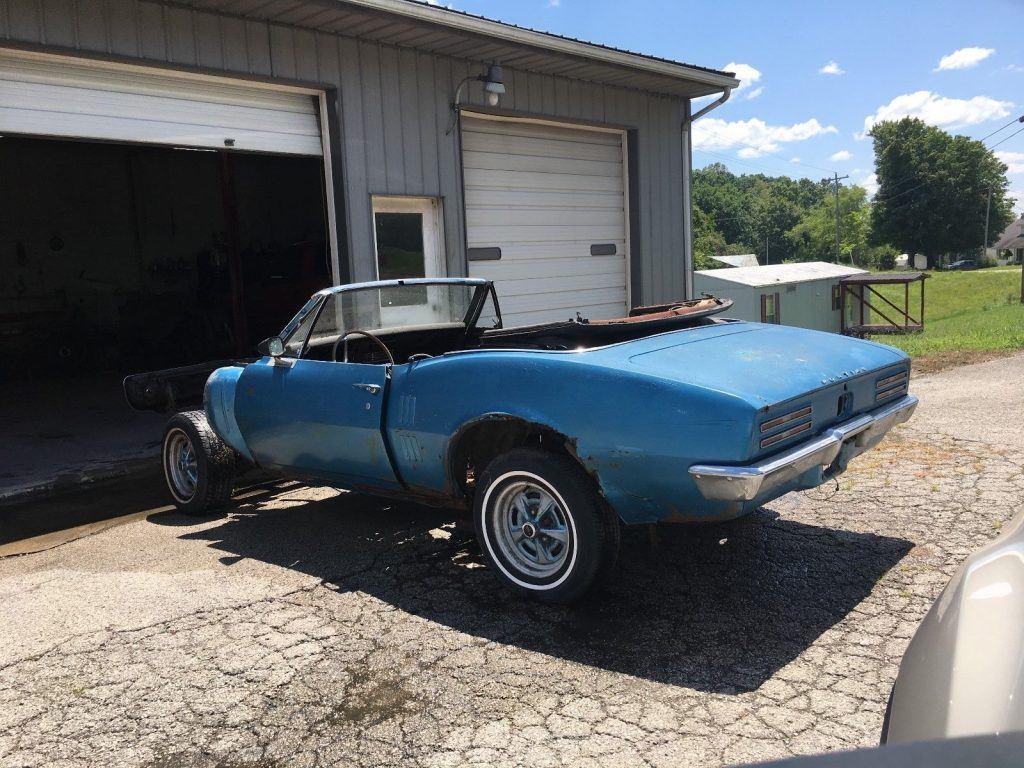 Incomplete 1967 Pontiac Firebird Project
