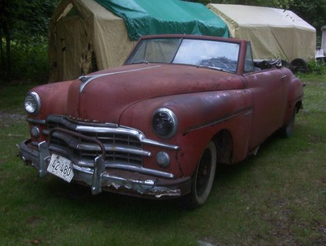 last roadster 1949 Dodge Wayfarer Convertible project for sale