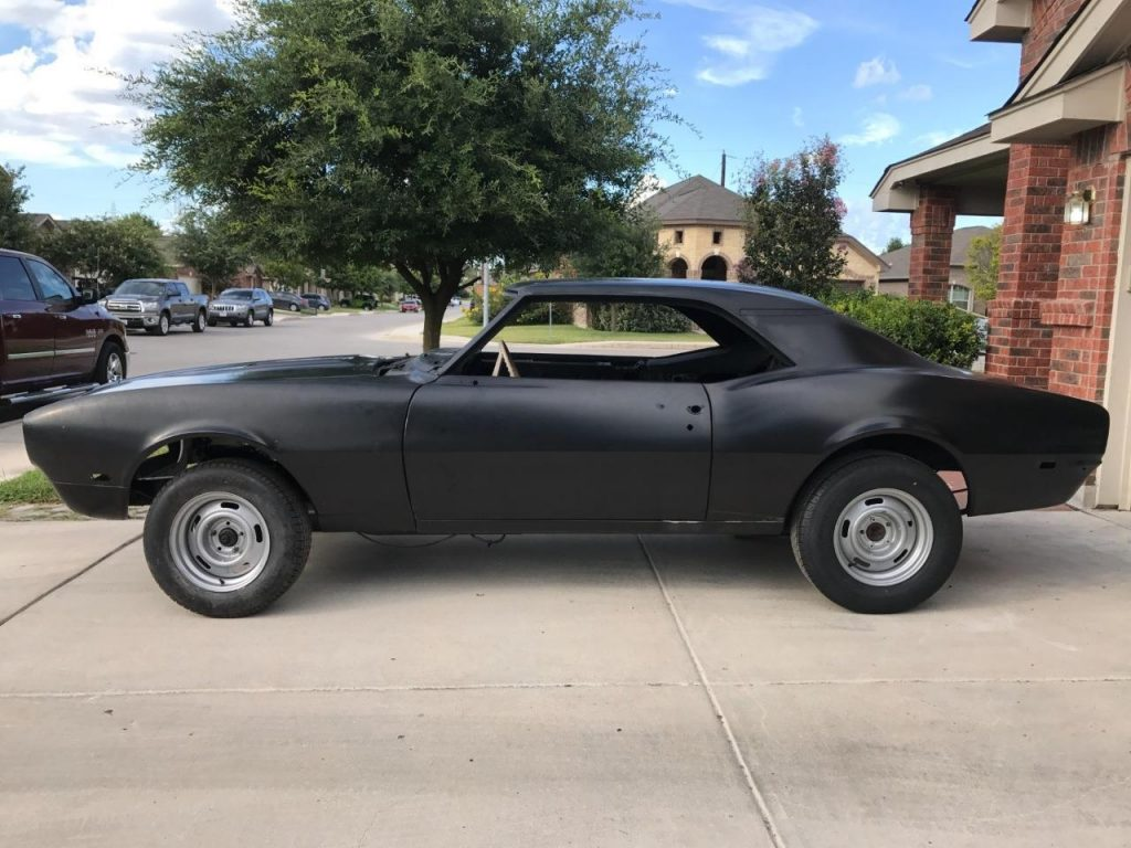 New Metal 1968 Chevrolet Camaro Rs Ss Project For Sale
