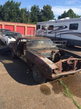 No drivetrain 1969 Chevrolet Camaro project for sale
