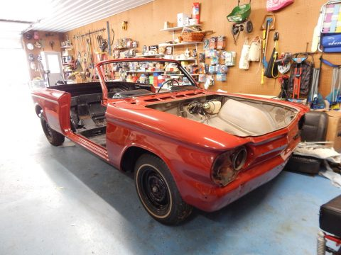 partly restored 1963 Chevrolet Corvair project for sale
