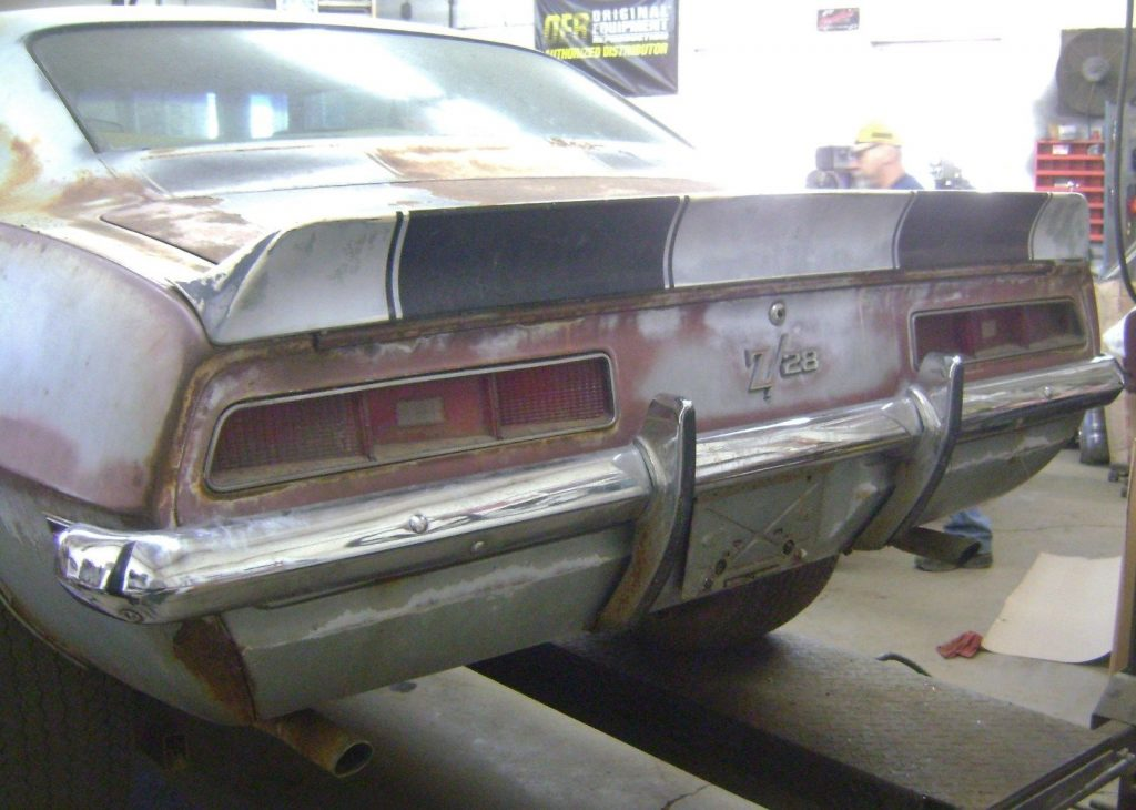 Some rust 1969 Chevrolet Camaro Z28 project