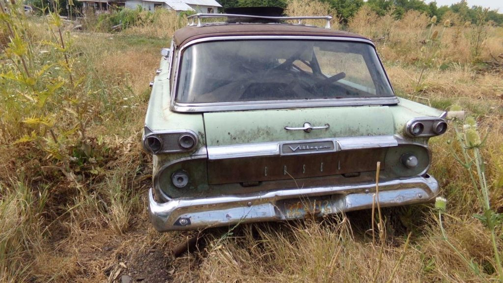 Stored Outside 1959 Edsel Villager Station Wagon Project