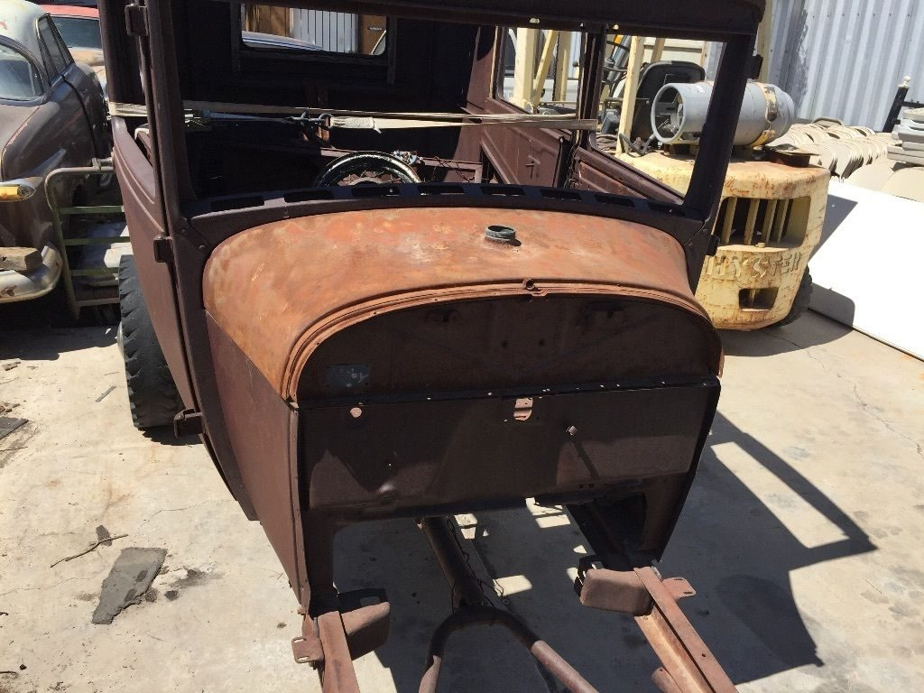 surface rust 1929 Ford Model A 2 door project